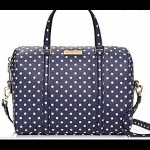 KATE SPADE mini Cassie satchel navy blue polka dot